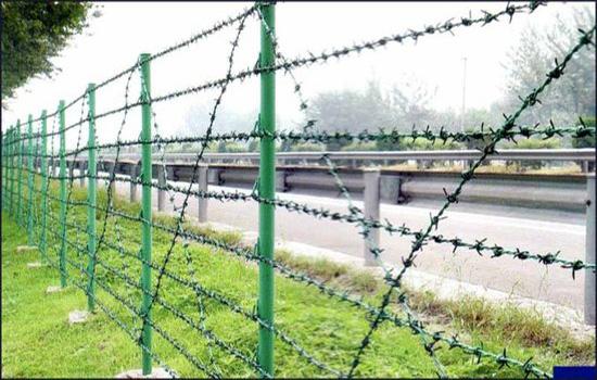 刺铁丝围栏